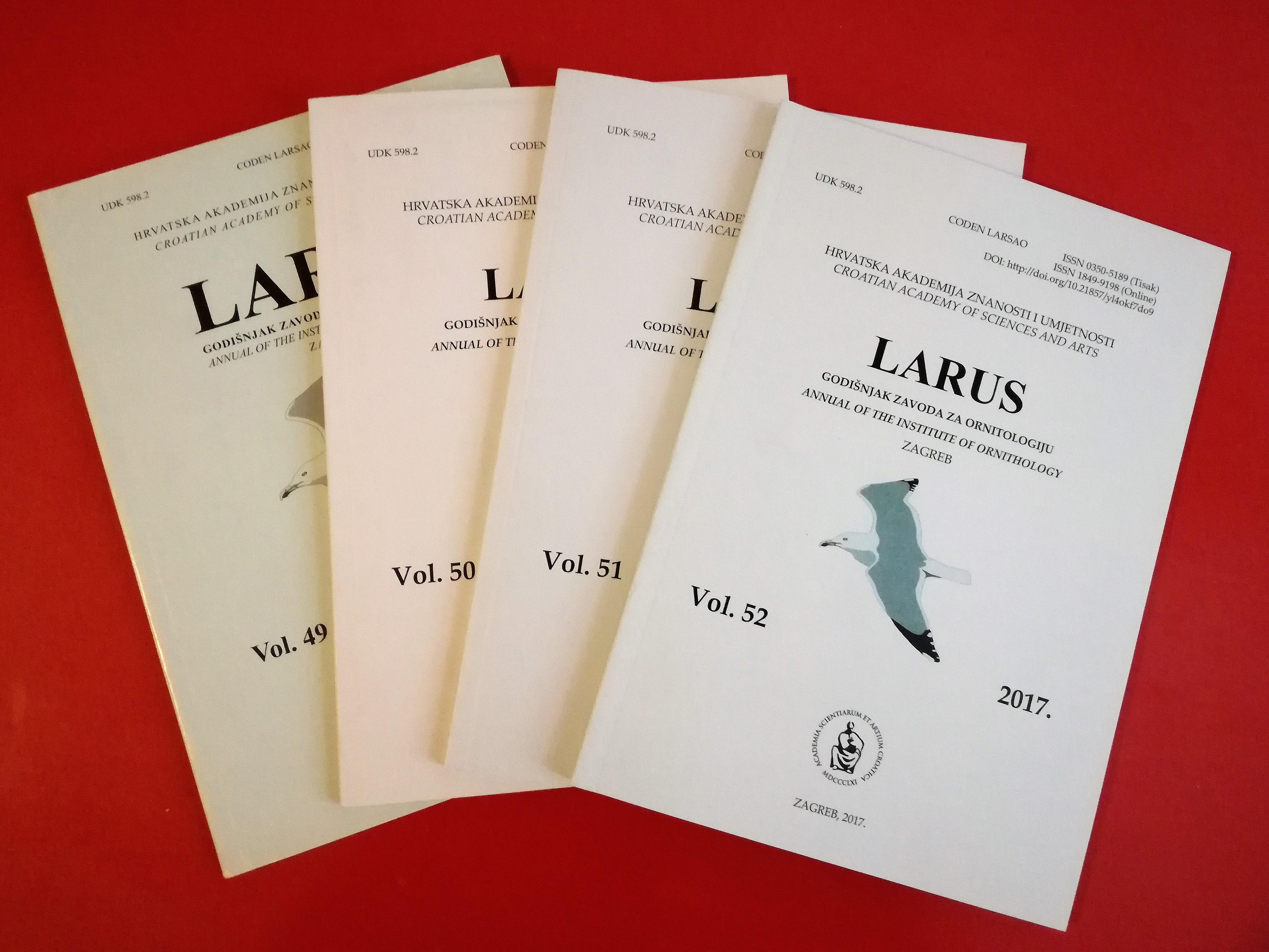 Časopis Larus Vol. 52 dostupan za preuzimanje