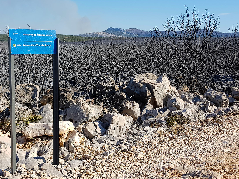 Požar u Parku prirode Vransko jezero
